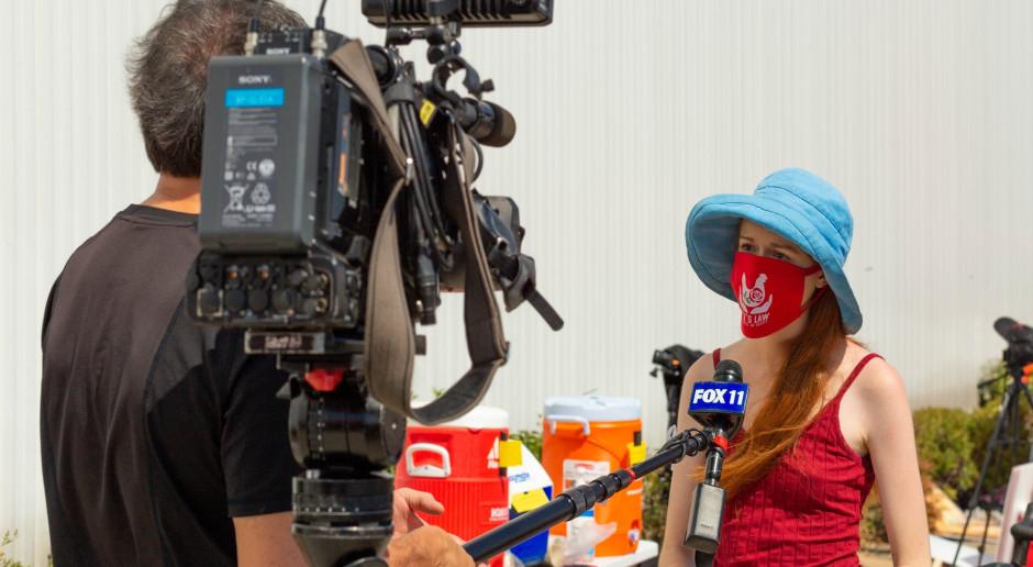 """Dziennikarka litewskiej TV o napływie migrantów przez Białoruś: to """"żywe mięso"""" w wojnie hybrydowej"""