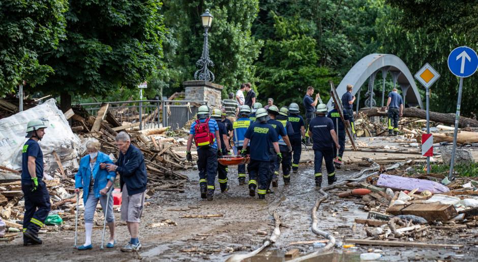 Niemcy: Wciąż rośnie bilans ofiar powodzi. Prezydent odwiedził dotknięte tereny