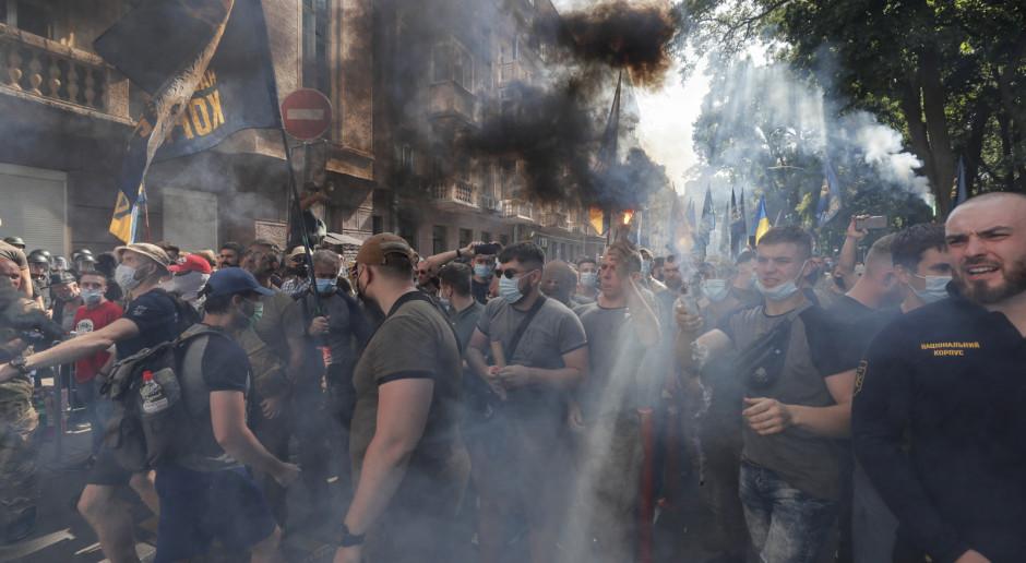 Ukraina: Starcia przed siedzibą prezydenta, są poszkodowani
