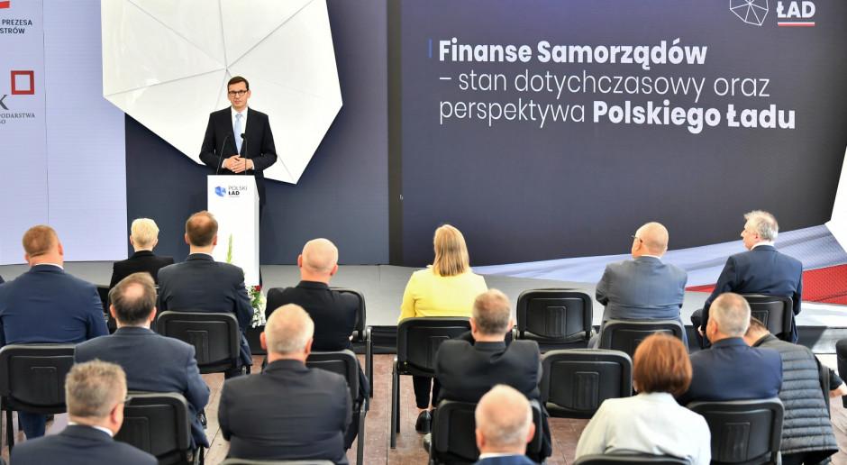 Premier przedstawił Polski Ład dla samorządów, wśród rozwiązań dodatkowe 8 mld zł w IV kwartale
