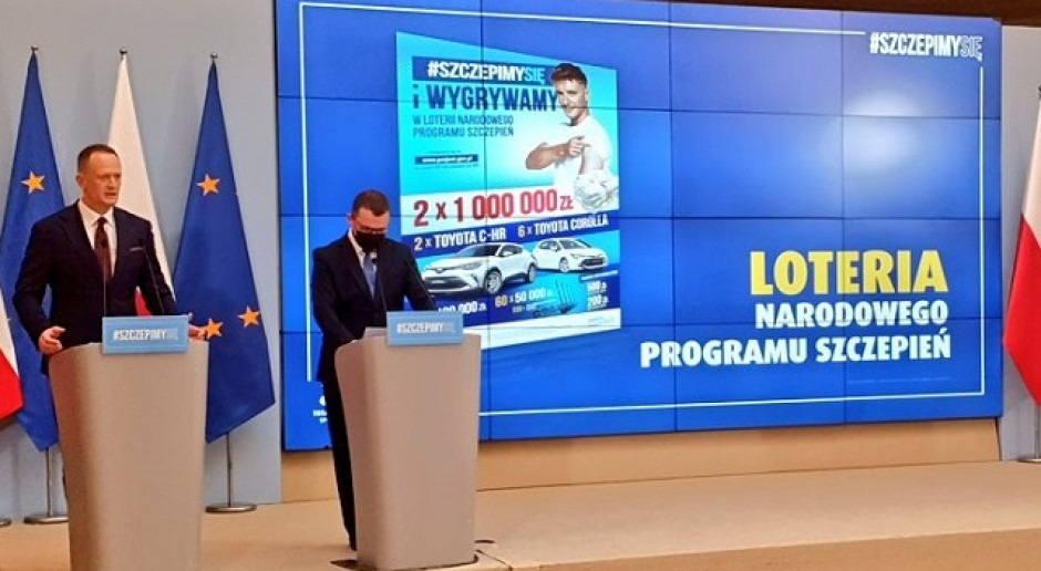 TS: ponad 4,6 mln zł wynosi wartość wydanych nagród w loterii szczepionkowej