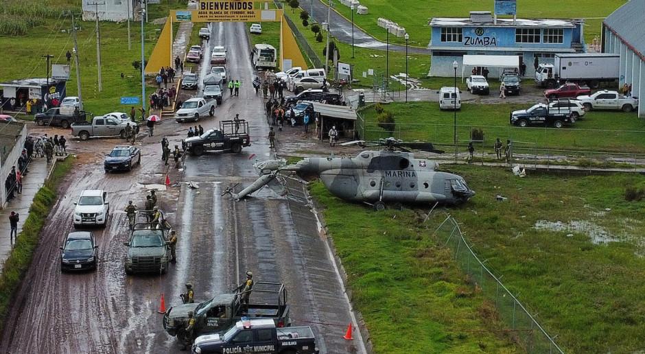 W Meksyku rozbił się wojskowy helikopter rosyjskiej produkcji [WIDEO]