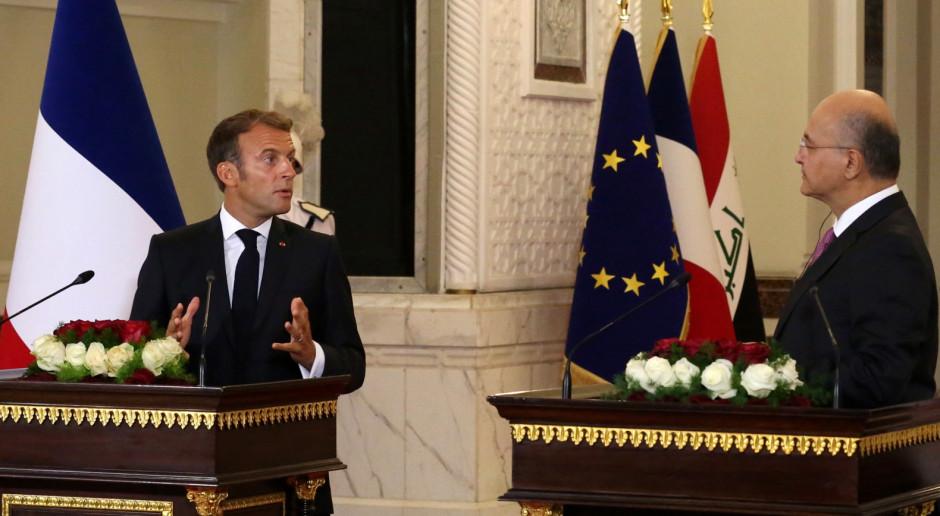 Irak: Macron spotkał się z przywódcami państw regionu. Obiecał wsparcie Iraku w walce z IS