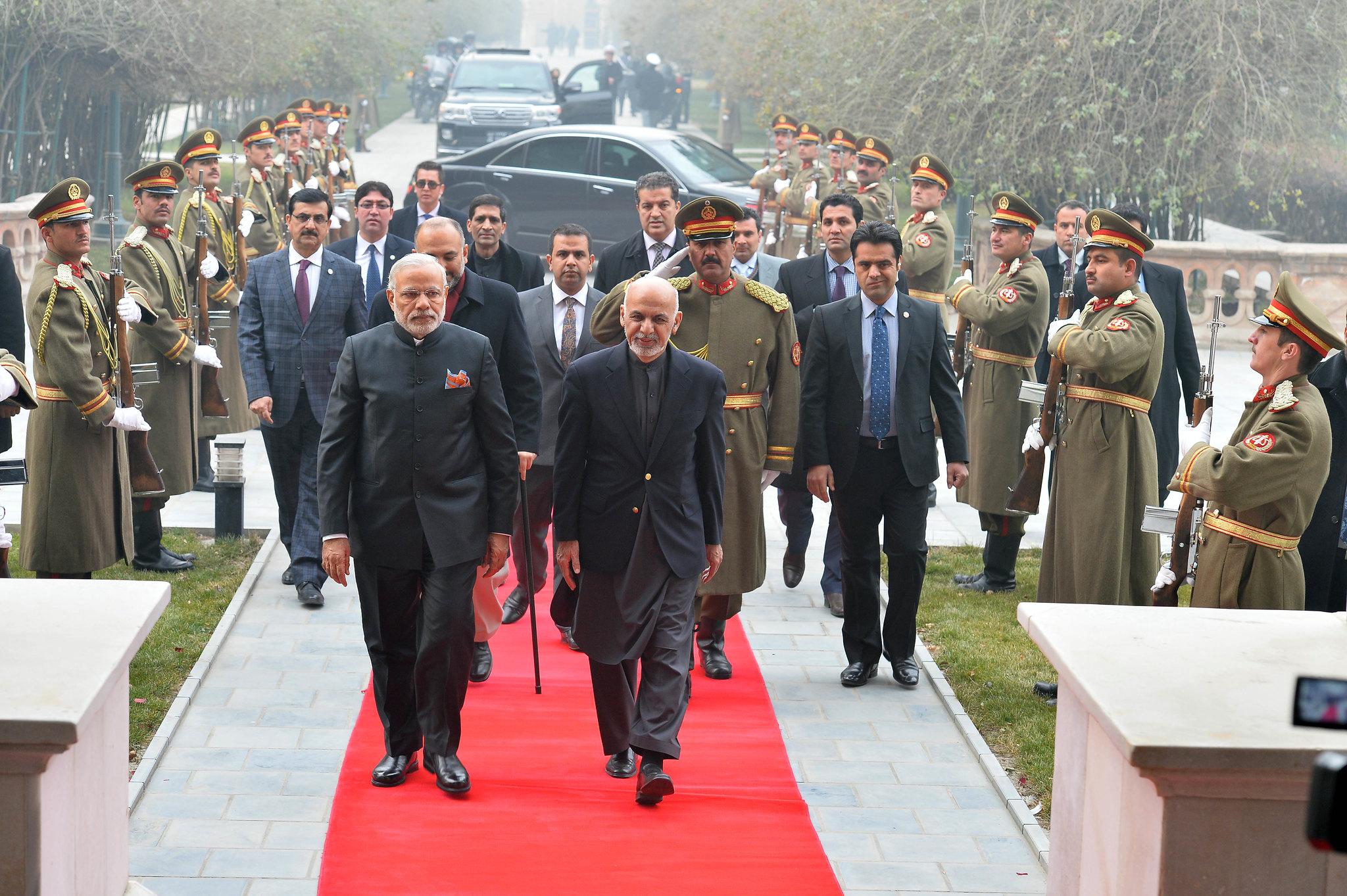 Oficjalna wizyta. Premier Indii i prezydent Afganistanu. Fot. materiały prasowe Kancelarii Premiera Indii