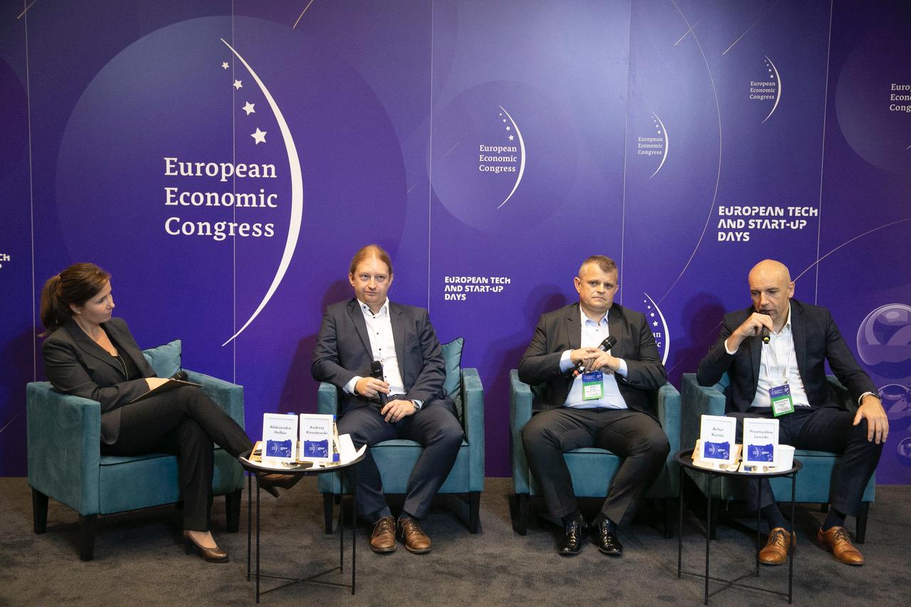 Panel Inteligentna automatyzacja procesów biznesowych, która odbyła się w ramach Europejskiego Kongresu Gospodarczego