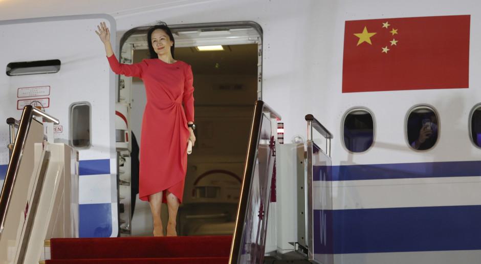 Chiny: Do kraju wróciła wypuszczona z aresztu domowego w Kanadzie wiceprezes Huawei