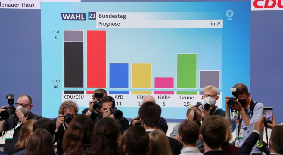 Niemcy: Exit polls: CDU: CSU i SPD po 25 proc. głosów, Zieloni - 15 proc., FDP i AfD - po 11 proc.
