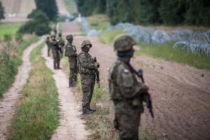 Na granicy z Białorusią powstają posterunki jak w Iraku i Afganistanie