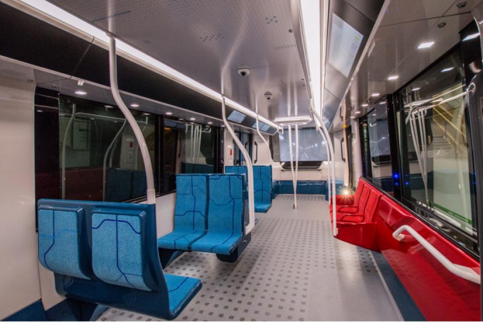 Wnętrze wagonu z serii Metropolis. Fot. Mat. pras. / wizaulizacja